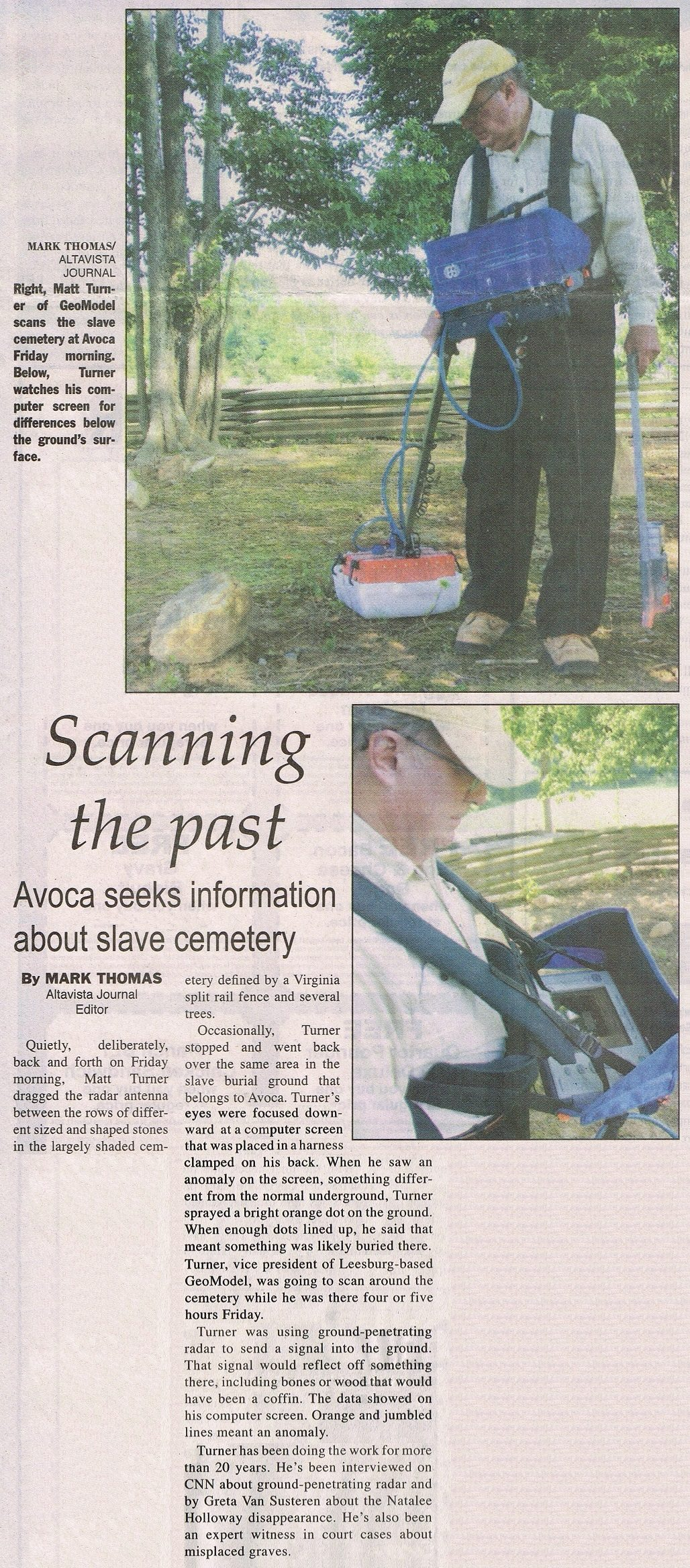 News Cemetery Avoca VA to detect graves