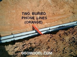 Two Orange Phone Lines