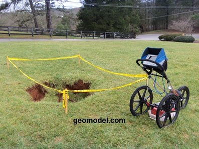 sinkhole_detection and void detection handcart