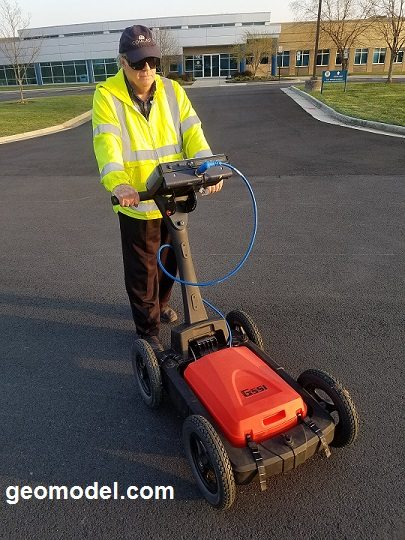 GeoModel GPR with Plastic Cart