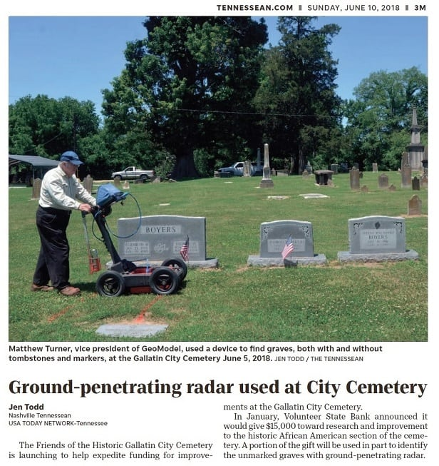 Cemetery Mapping and Grave Mapping Ground Radar Services